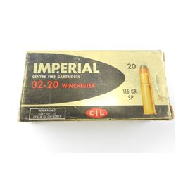 IMPERIAL 32-20 WINCHESTER AMMO