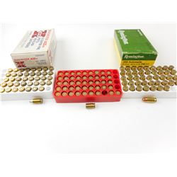 380 AUTO ASSORTED AMMO, BRASS CASES
