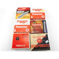 C02 POWERLETS FOR AIR GUNS, ASSORTED