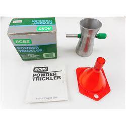 RCBS POWDER TRICKLER, LEE 22-45 CAL FUNNEL