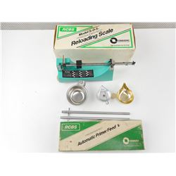 RCBS MODEL 5-0-5 RELOADING SCALE, RCBS AUTO PRIMER FEED