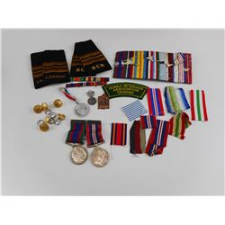 WWII CANADIAN MEDALS/POST WAR RIBBONS