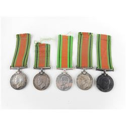 WWII DEFENCE MEDALS