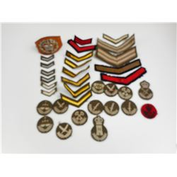 WWII RANK BADGES LOT