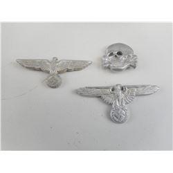 HEER CAP EAGLE, S.S EAGLE BADGES