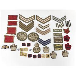 BRITISH/CDN WWII ETC BADGES