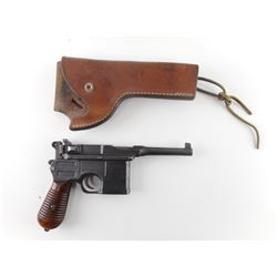 RARE, MAUSER , MODEL: C96  RED 9 BROOMHANDLE BOLO 1920 REWORK , CALIBER: 9MM LUGER