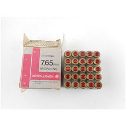 SELLIER & BELLOT 7.65 BROWNING AMMO