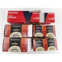 FEDERAL LARGE RIFLE MATCH PRIMERS NO GM210M, FEDERAL SMALL RIFLE NO 205