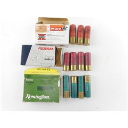 ASSORTED PLASTIC SHOTSHELLS, REMINGTON, WINCHESTER AND FEDERAL
