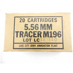 5.56MM TRACER M196 AMMO