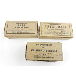 .45 M1911 ACP MILITARY BALL AMMO