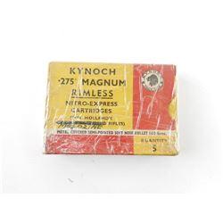 KYNOCH .275 MAGNUM RIMLESS CARTRIDGES