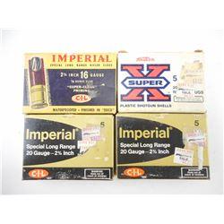IMPERIAL & WINCHESTER WESTERN SUPER-X 20 AND 16 GUAGE SLUGS