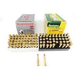 WINCHESTER AND REMINGTON .22 HORNET AMMO