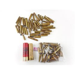 ASSORTED AMMO, BRASS CASES