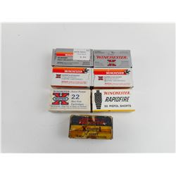 ASSORTED WINCHESTER AND WESTERN .22 SHORT AMMO