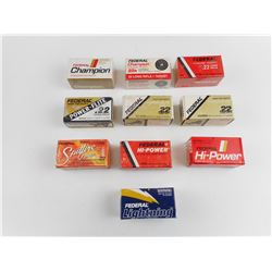 ASSORTED FEDERAL .22 LONG RIFLE AMMO