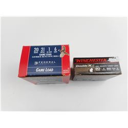 WINCHESTER AND FEDERAL 20 GUAGE AMMO