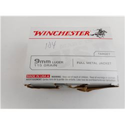 WINCHESTER 9MM LUGER AMMO