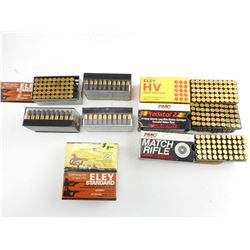 ELEY, PMC .22 LONG RIFLE ASSORTED AMMO
