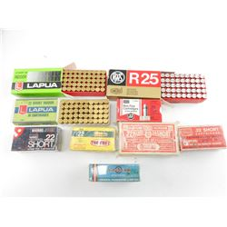 22 SHORT ASSORTED AMMO