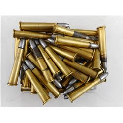 38-70 AMMO, CONVERTED FROM 45-70 BRASS RELOADED AMMO