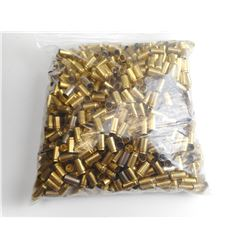 9MM LUGER BRASS CASES, IN PLANO PLASTIC AMMO BOX