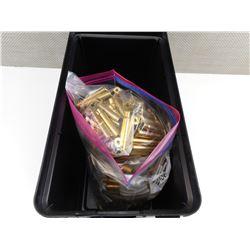 .303 BRITISH BRASS CASES, IN PLANO PLASTIC AMMO BOX