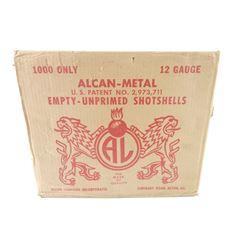 ALCAN -METAL EMPTY UNPRIMED 12 GAUGE SHOTGUN SHELLS
