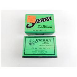 SIERRA 303 CAL, 270 CALL BULLETS