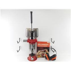 PACIFIC DL-105 12 GAUGE RELOADING PRESS, RELOADERS GUIDE, EAR PROTECTION