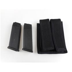 GLOCK .45 ACP PISTOL MAGAZINES AND POUCH