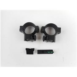 RIFLE SCOPE RINGS AND SIGHTS LOT