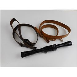 BUSHNELL 4X20 SCOPE WITH LEATHER SLINGS