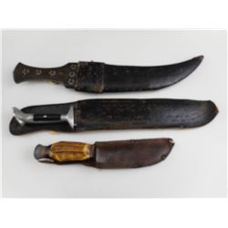 ASSORTED HUNTING TYPE KNIVES