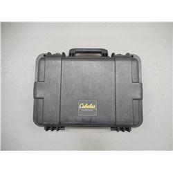 CABELA'S HARD HAND GUN CASE, TRIGGER LOCKS, BLACK AND DECKER LOCK W/KEYS