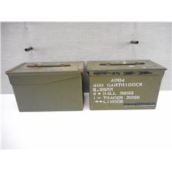 METAL AMMO TINS (2)