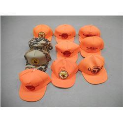 HUNTER ORANGE BASEBALL CAPS, CAMO BASEBALL CAPS