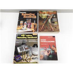 LYMAN RELOADING HANDBOOK, GUN DIGEST 38TH ANNIVERSARY, BASIC HAND LOADING, LYMAN RELOADING
