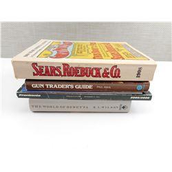 THE WORLD OF BERETTA, FRANKONIA CATOLOGUE, GUN TRADERS GUIDE, TEXAS GUIDE, 1908 SEARS/ROEBUCK CAT.