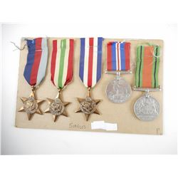 WWII BRITISH/CDN MEDALS LOT