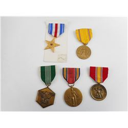 WWII U.S. MILITARY MEDALS LOT