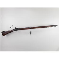 BRITISH SERVICE  , MODEL: INDIAN PATTERN 1793 MUSKET (AKA BROWN BESS) , CALIBER: 75 CAL FLINTLOCK