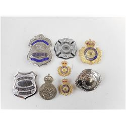 ASSORTED CANADIAN POLICE BADGES