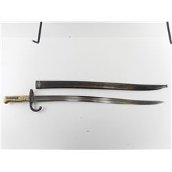 FRENCH 1866 CHASSEPOT RIFLE BAYONET AND SCABBARD