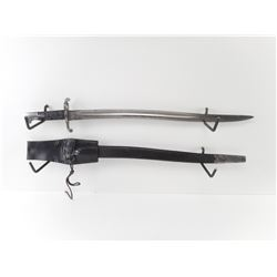 BRITISH P1856/58 YATAGHAN SWORD BAYONET WITH SCABBARD AND FROG