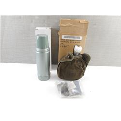 MILITARY CANTEEN AND VACUUM BOTTLE