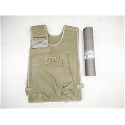 CANADIAN MILITARY BAG (VEST) AND 82MM CONTAINER