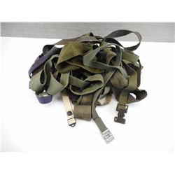 ASSORTED MILITARY CANVAS STRAPS